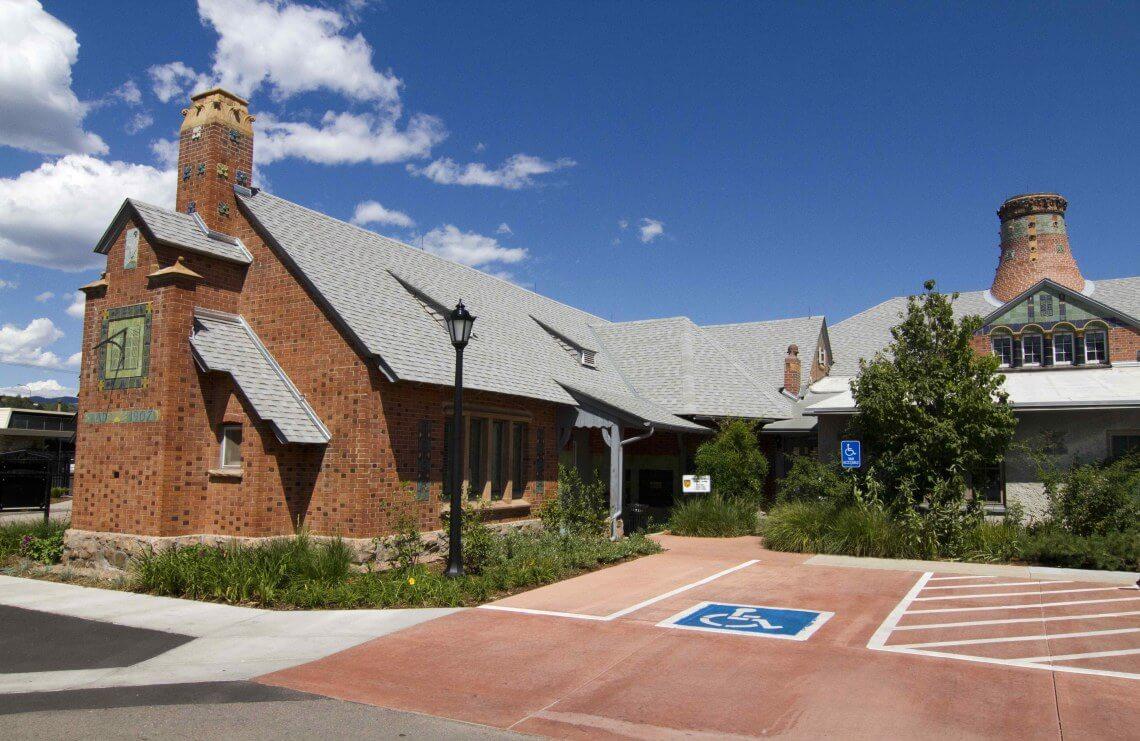 Van Briggle and Transportation Shop Building at Colorado College